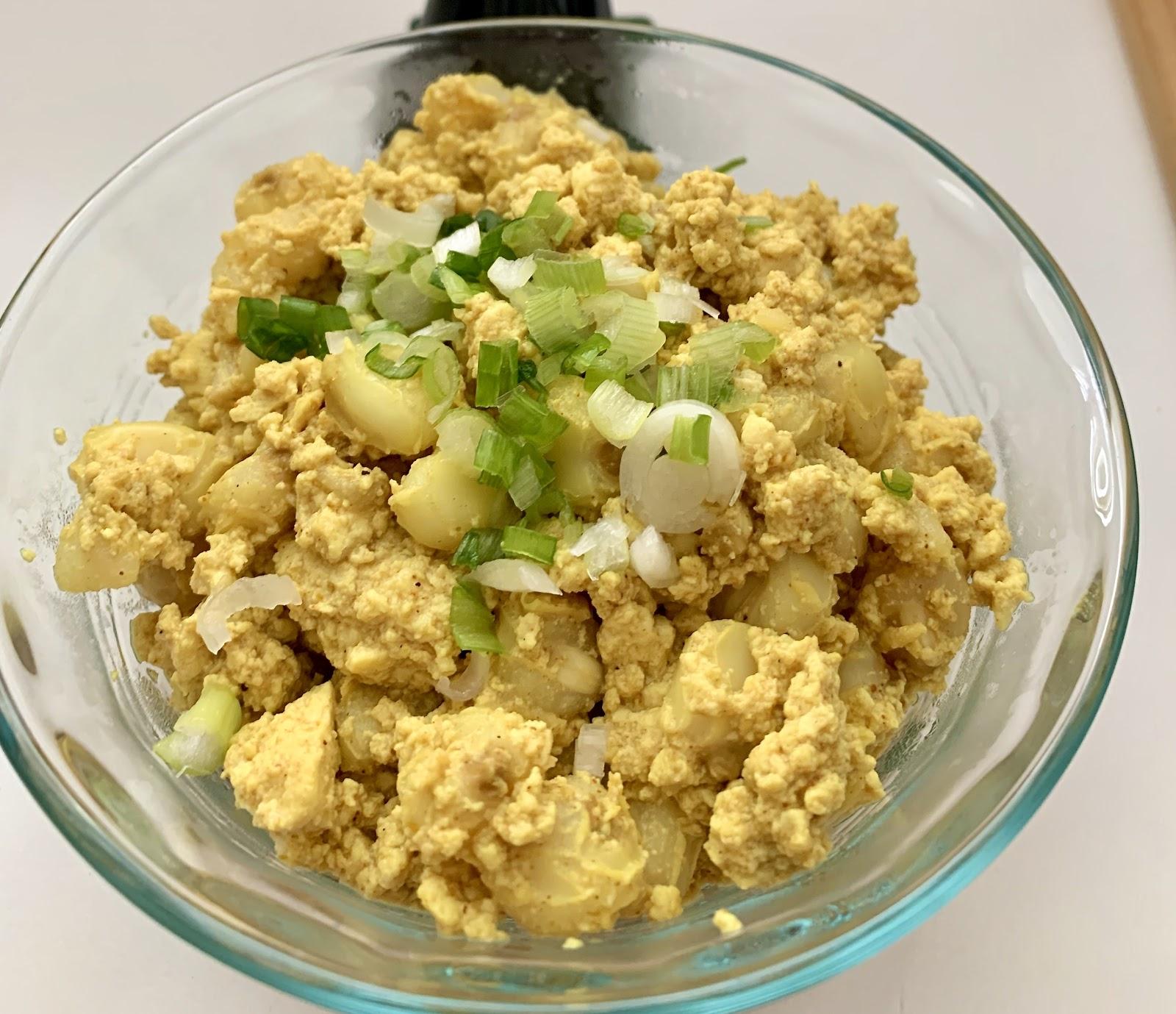 Hominy & Tofu Scramble, aka 'Mote Pillo'